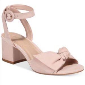 ALDO pink bow block heel sandals - 7